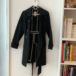 Rag and Bone Navy Trench Coat